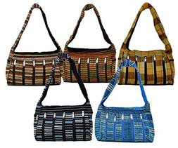 10 Velvet Touch Bags Long Purse Boho Gypsy India Wholesale L