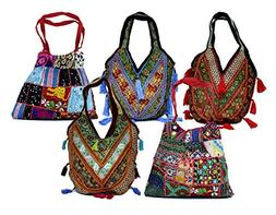 10 Vintage Banjara & Embroidered Sequin Beads Bags Gypsy Pur