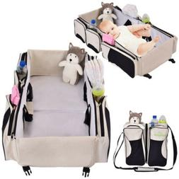 3-in-1 Portable Crib Changing Station Diaper Bag Baby Infant