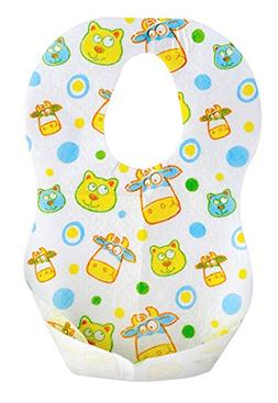 "Munchkin 41501 13.5"" X 9"" Fish Style Disposable Bibs 24 Pack"