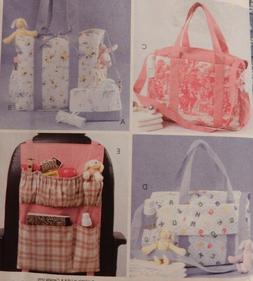 4403  McCall's Laura Ashley Car Organizer Diaper & Tote Bags