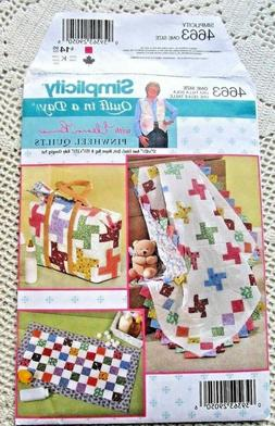 4663 SEWING PATTERN~UNCUT~QUILT IN A DAY:BABY QUILT&DIAPER B