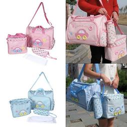 4pcs/set Baby Nappy Diaper Changing Bag Maternity Mummy Tote