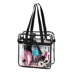 BAGS for LESS Clear Tote Stadium Approved with Handle and Zi