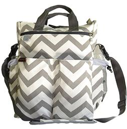 Catwald Chevron and White Canvas Design Polyester Cotton Dia