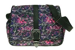 Muddy Girl Pink Purple Camo Quilted Diaper Bag Crossbody Exc