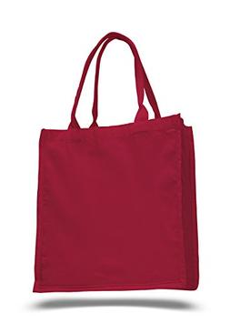 """Pack of 6 - Cottom Canvas Fancy Shopper Tote Bag - Size 15""""w"""