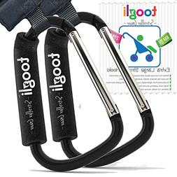 The BETTER XL Stroller Hook Set By Toogli. Two Great Organiz