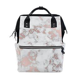 ALAZA Abstract Marble with Rose Gold Fashion Diaper Bags Mum