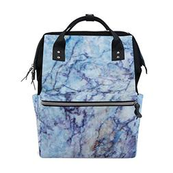 ALAZA Abstract Purple Marble Fashion Diaper Bags Mummy Backp