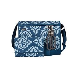 JJ Cole All Around Baby Diaper Bag Aqua Ikat with Changing P