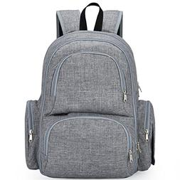 My Little Scout Baby Diaper Bag Backpack | Large Waterproof