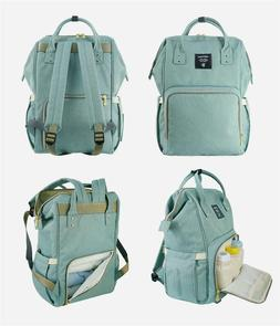 SUNVENO Baby Diaper Bag Large Capacity Travel Backpack-Green