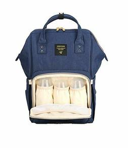 Sunveno Baby Diaper Bag Large Capacity Travel Backpack-Navy