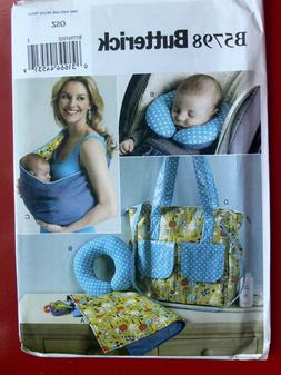 Baby Diaper Bag Tote Changing Pad Neck Support Carrier Sewin