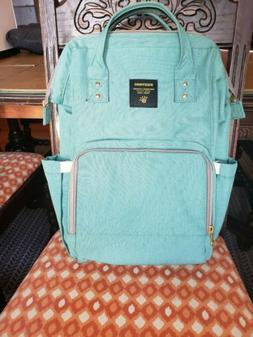 SUNVENO Baby Diaper Bag Travel Backpack-Teal