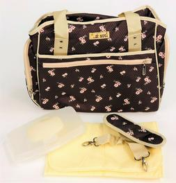 Baby Diaper Tote Bottle Bag w/ Adjustable Shoulder Strap Wom