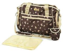 Baby Diaper Tote Bottle Bag Womens Travel Bags with Adjustab