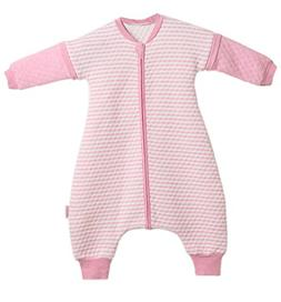 LETTAS Baby Girls Quilted Cotton Stripe Detachable Sleeve 2.