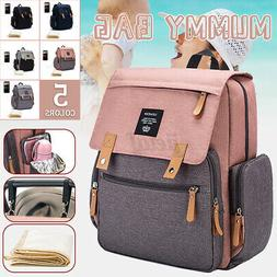 Baby Mummy Bag Changing Diaper Nappy Bag Travel Backpack Lar