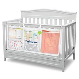 Baby Nursery Diaper Organizer with 5 Large Pockets- Bedside