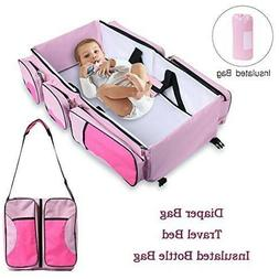 Baby Travel Diaper Bag Portable Changing Station 4 in 1 Fold