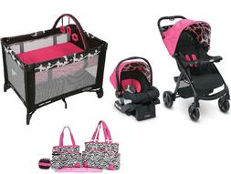 Baby Walk Out Combo Set Playard Diaper Bag Stroller with Car