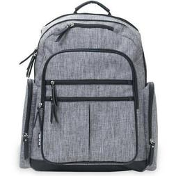 Babyboom Diaper Backpack with Changing Pad - gray, one size
