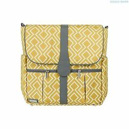 JJ Cole 'Citrine Lattice' Backpack Diaper Bag