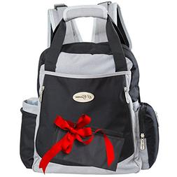 Backpack Diaper Bag for Dad and Mom with Stroller Straps and