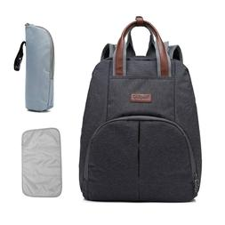 Backpack Diaper Bag Set, Unisex Insulated Large Organizer Tr