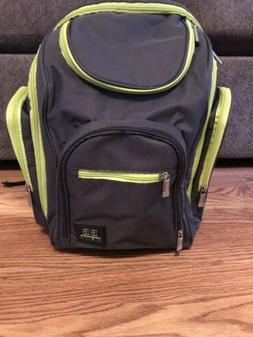 Baby Boom BB Gear Backpack Diaper Bag Lime Green And Grey