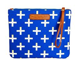 Blue & Gold Crosses Diaper Clutch/Wet Bag by White Elm | Wat