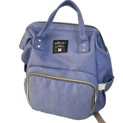 blue unisex diaper bag backpack convertible baby