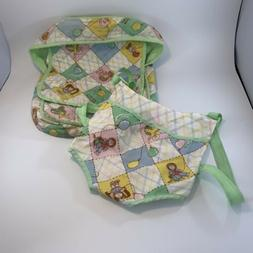 Cabbage Patch Kids Vintage Quilted Diaper Bag & Snuggle Clos