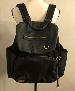 chelsea downtown chic diaper backpack black