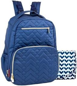 classic quilted backpack navy