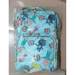COCOMELON DIAPER BAG BACKPACK BAG CARRIER INSULATED WATER PR