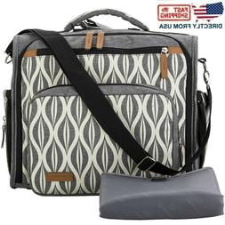 Lekebaby Convertible Diaper Bag Backpack for Mom with Waterp
