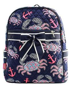 "J&C Family Owned Crab Quilted 13"" Backpack"