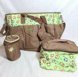 SoHo diaper bag Curious Monkey 6 pcs nappy tote bag for baby