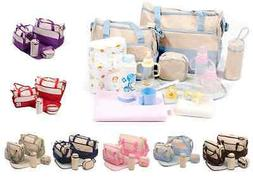 D1001 5-Pieces Set Multi-function Mommy Baby Nappy Diaper Ba