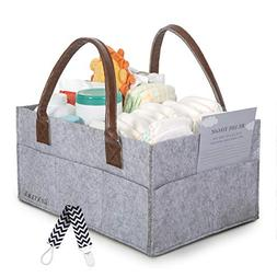 Deluxe Baby Diaper Caddy by Bunny&B | Baby Organizer Tote Pl