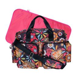 Trend Lab Deluxe Duffle Style Diaper Bag, Bohemian Floral