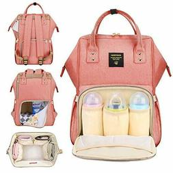diaper backpack functional nappy changing bag coral