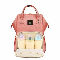 Sunveno Diaper Backpack Functional Nappy Changing Bag -Coral