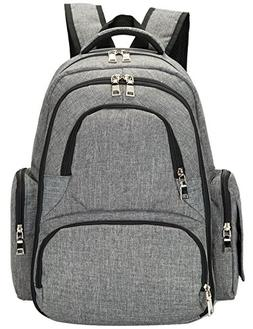 El-fmly Baby Diaper Backpack With Insulated Pockets / Large