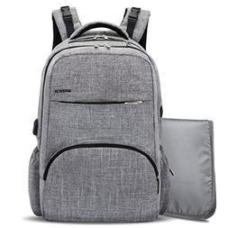 BRINCH Diaper Bag Backpack with USB Charging Port,Stylish Un