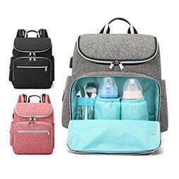 Diaper Bag Backpack For Baby Care, Multi-function Waterproof