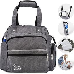Baby Diaper Bag Backpack for Women Men - Grey Diaper Bag Set